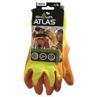 GLOVE RUBBER W/YELO SHELL LG