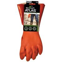 GLOVE PVC 12IN W/KNIT LINR LRG