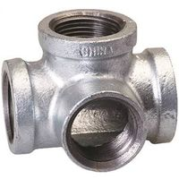 B and K 510-814 Galvanized Pipe Malleable Iron Side Outlet Tee