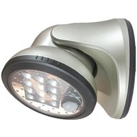 PORCH LIGHT 12 LED SILVER