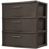TOWER 3- DRAWER WIDE WEAVE