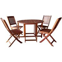 KONA SET DINING FOLDING 5PC