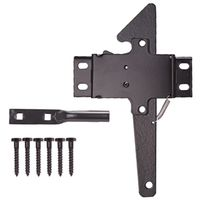 LATCH POST BLK W/SCREWS STEEL