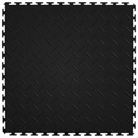 TILE FLOOR DIA BLK 20.5X20.5IN