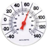 AcuRite 00353CASB Weather Resistant Dial Thermometer
