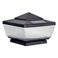 Boston Harbor QPP3-R4-BK-B1 Solar Post Cap