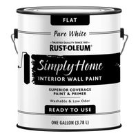 PAINT WALL FLAT PURE WHT 1GAL