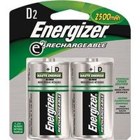 BATTERY RECHARGE NIMH 2PACK D