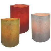 CANDLE PILLAR 3 COLOR ASST 4IN