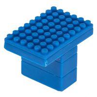 KNOB PLASTIC BLUE 45MM