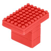 KNOB PLASTIC RED 45MM