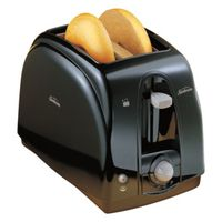 TOASTER 2-SLICE PLASTIC BLACK
