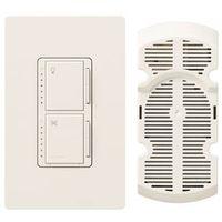 Lutron Maestro MA-LFQHW-WH Fan Light Switch
