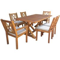 OAHU SET DINING WOOD 7PC