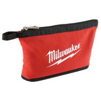 POUCH ZIPPER RED/BLACK 12.5IN