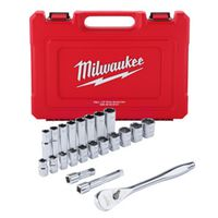 RATCHET-SOCKET SET SAE 1/2IN