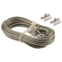Prime Line GD 52102 Aircraft Safety Cable Set with Cable Clamps