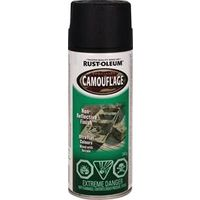 PAINT SPRAY CAMO FLAT BLK 340G