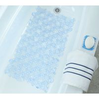 MAT BATH BURST OF BUBL LT BLUE