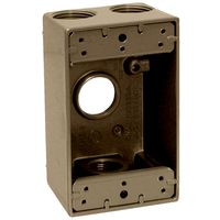 Teddico/BWF 1753AB-1 Weatherproof Electrical Outlet Box