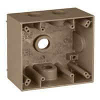 Teddico/BWF 2504AB-1 Weatherproof Electrical Outlet Box