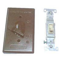Teddico/BWF 611AB-1 Weatherproof Toggle Switch Cover With Switch