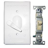 Teddico/BWF 611W-1 Weatherproof Toggle Switch Cover With Switch