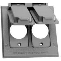 Teddico/BWF FC-281V Self-Closing Square Weatherproof Receptacle Cover