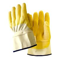 GLOVE RUBBER NATURAL YELLOW