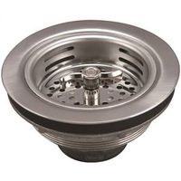 PlumbPak 1433SS Twist and Lock Kitchen Basket Strainer