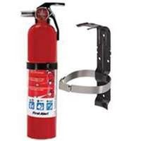 First Alert HOME1/BRKT2 Rechargeable Fire Extinguisher Kit