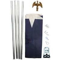 Valley Forge TEX1-1 PVC Bagged Texas Flag Kit