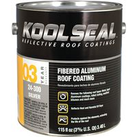 Kool Seal KST020400-16 Asphalt Based Aluminum Roof Coating