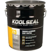Kool Seal KST020400-20 Asphalt Based Aluminum Roof Coating
