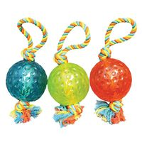TOY PET TUG 5IN BALL W/ROPE