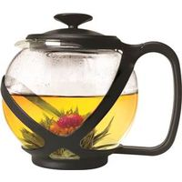 TEAPOT GLASS 40OZ BLACK TEMPO