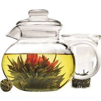 TEAPOT GLASS 40OZ BLOSSOM