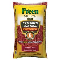 MULCH RED W/HERBICIDE 2 CU FT