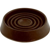 CUPS ROUND RUB BROWN 3IN