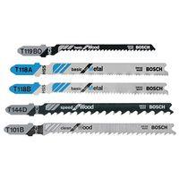 Bosch T500 Assorted Bi-Metal Jig Saw Blade Set