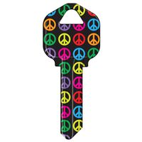 KW1-32 KEYBLANK PEACE SIGNS