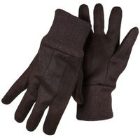 GLOVES MED WEIGHT BROWN JERSEY