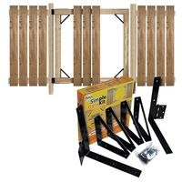 GATE KIT W/HARDWARE BLACK