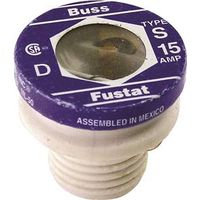 Bussmann S-15 Low Voltage Tamper Proof Time Delay Plug Fuse