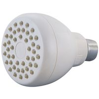 SHOWERHEAD FX/MT W/RUB TIP WHT