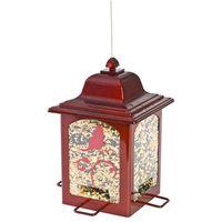 BIRDFEEDER LNTRN RED 4PORT 3LB