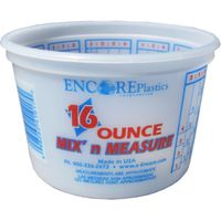 CONTAINER MIX PLASTIC 16OZ