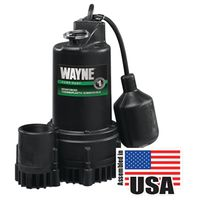Wayne RSP Submersible Sump Pump With Piggy Back Tether Float Switch