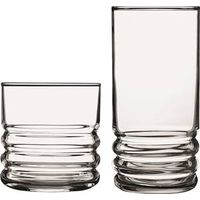 GLASS SET 16PC CRYSTAL HALEY