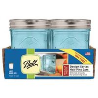 JAR REG MOUTH AQUA 1/2PINT 4PK